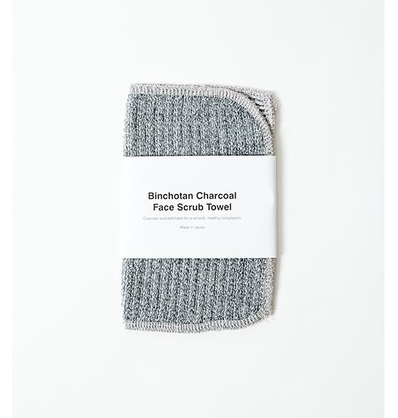 binchotan charcoal facial scrub towel